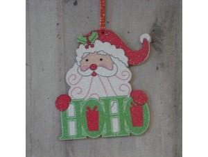 Χριστουγεννιάτικο στολίδι διπλής όψης Άγιος 12 εκ