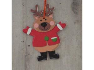 Χριστουγεννιάτικο Στολίδι Τάρανδος 12 εκ. διπλής όψης