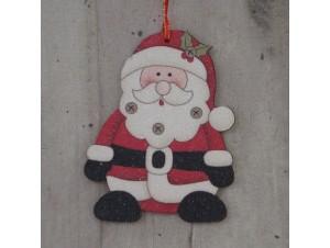 Χριστουγεννιάτικο Ξύλινο Στολίδι Άγιος 12 εκ. διπλής όψης
