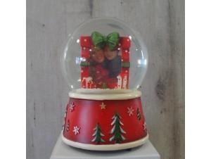Χριστουγεννιάτικη Χιονόμπαλα με κορνίζα και μελωδία
