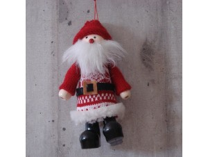 Χριστουγεννιάτικο κρεμαστό Λούτρινο στολίδι 16 εκ