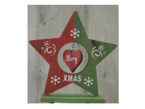 Χριστουγεννιάτικο Διακοσμητικό Αστέρι 17 εκ διπλής όψης