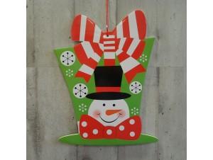 Χριστουγεννιάτικο Χάρτινο Διακοσμητικό Χιονάνθρωπος 40 εκ. διπλής όψης