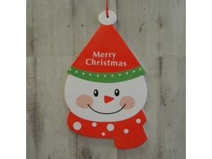 Χριστουγεννιάτικο Χάρτινο Διακοσμητικό διπλής όψης