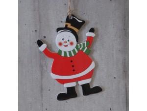 Χριστουγεννιάτικο Χάρτινο Διακοσμητικό Χιονάνθρωπος 15 εκ διπλής όψης