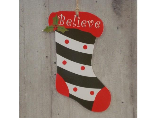 Χριστουγεννιάτικο Χάρτινο Διακοσμητικό Κάλτσα 15 εκ