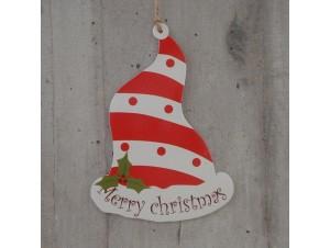 Χριστουγεννιάτικο Χάρτινο Διακοσμητικό Σκούφος 15 εκ