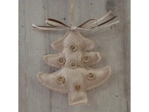 Χριστουγεννιάτικο Υφασμάτινο Στολίδι Δεντράκι