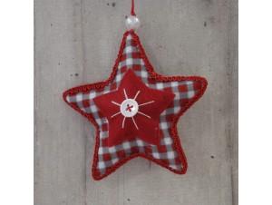 Χριστουγεννιάτικο Υφασμάτινο Στολίδι Αστέρι
