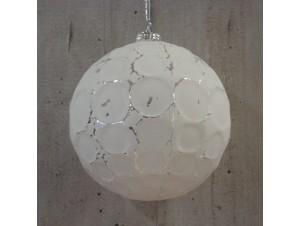 Χριστουγεννιάτικη μπάλα άσπρη 10 εκ.