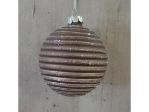 Χριστουγεννιάτικη μπάλα Μπεζ 8 εκ.
