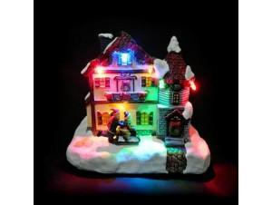 Χριστουγεννιάτικο σπιτάκι φωτιζόμενο 11x 9.5 x 12.5 εκ.