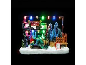 Χριστουγεννιάτικο μαγαζί φωτιζόμενο 11x9.5x12.5 εκ.