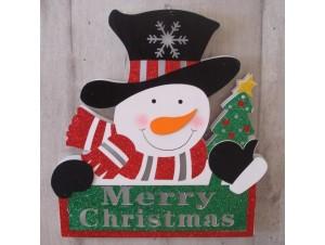Χριστουγεννιάτικη Ταμπέλα Κρεμαστή με Led 30X25 εκ.