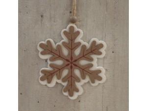 Χριστουγεννιάτικη Ξύλινη Οικολογική Νιφάδα 10 εκ.