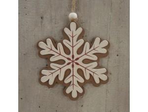Χριστουγεννιάτικη Ξύλινη Οικολογική Νιφάδα