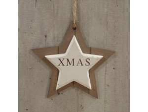Χριστουγεννιάτικη Ξύλινη διπλό αστέρι
