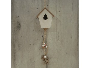 Χριστουγεννιάτικο ξύλινο διακοσμητικό σπιτάκι 19 εκ.