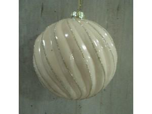 Χριστουγεννιάτικη μπάλα Σομόν 10 εκ