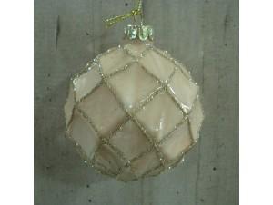 Χριστουγεννιάτικη μπάλα Σομόν 8 εκ