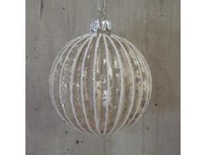 Χριστουγεννιάτικη μπάλα σαμπανιζέ 8 εκ.
