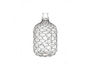 Γυάλινο διακοσμητικό μπουκάλι με σύρμα