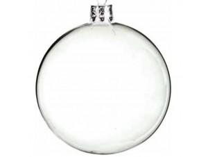 Διάφανη Χριστουγεννιάτικη Γυάλινη Μπάλα