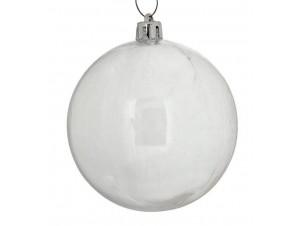 Set 6 τμχ. Χριστουγεννιάτικη μπάλα Διάφανη