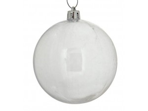 Set 4 τμχ. Χριστουγεννιάτικη μπάλα Διάφανη