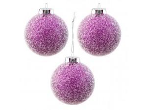 Set 6 τμχ. Χριστουγεννιάτικη μπάλα