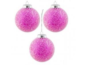 Set 6 τμχ. Χριστουγεννιάτικη μπάλα Φούξια