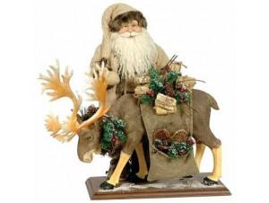 Άγιος Βασίλης Όρθιος με τάρανδο