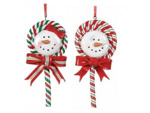 Χριστουγεννιάτικο διακοσμητικό στολίδι σετ 2 τεμ.