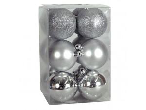 Χριστουγεννιάτικη Μπάλα 6 εκ SET 12 τεμ.