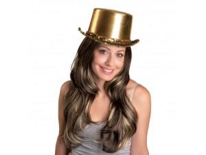 Αποκριάτικο Αξεσουάρ καπέλο ημίψηλο σατέν