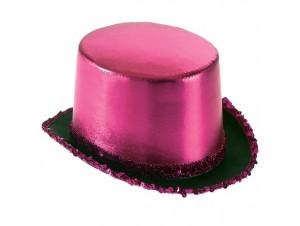 Αποκριάτικο καπέλο Ημίψηλο Σατέν Φούξια