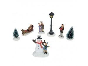 Set Χριστουγεννιάτικες φιγούρες με 7 στοιχεία.