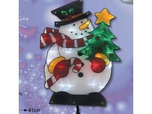 Φιγούρα Φωτιζόμενος Χιονάνθρωπος