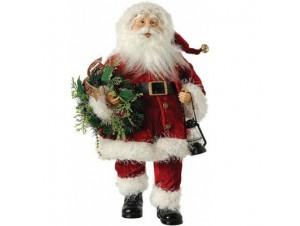 Άγιος Βασίλης Όρθιος με στεφάνι και φανάρι