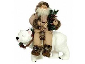 Άγιος Βασίλης καθιστός σε αρκουδα