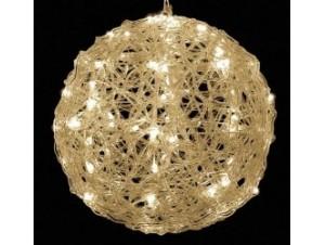 Φωτιζόμενη μπάλα με 120 Λευκά Θερμά LED