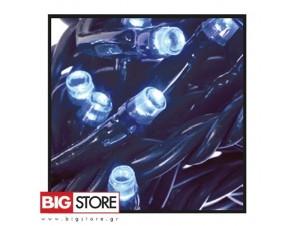 100 LED Μπλε λαμπάκια με 8 προγράμματα ΠΜ