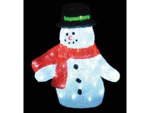 Χιονάνθρωπος Ακρυλικός με 80 LED