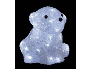 Αρκούδα Ακρυλική με 40 LED