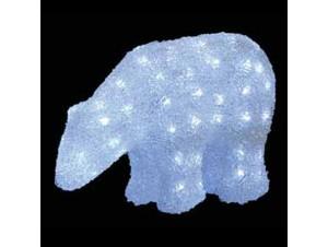 Αρκούδα Ακρυλική με 240 LED 50 εκ