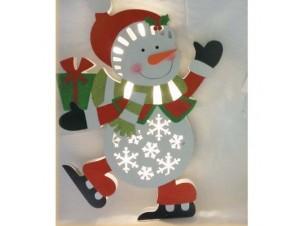 Φιγούρα Φωτιζόμενος Χιονάνθρωπος με μπαταρία