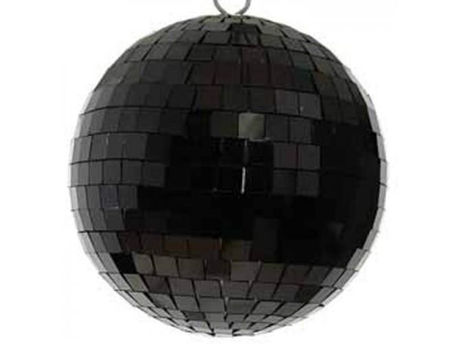Μαύρη Χριστουγεννιάτικη Γυάλινη Μπάλα