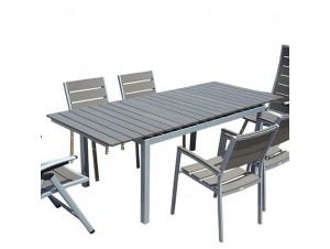 FORTE Τραπέζι Αλουμινίου επεκτεινόμενο