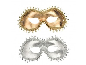 Αποκριάτικη Μάσκα ματιών με πέρλα