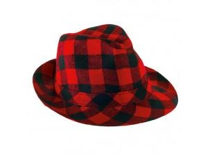 Αποκριάτικο καπέλο καβουράκι καρώ, 3 χρώματα